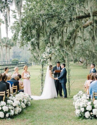 tiger lily, boone hall wedding
